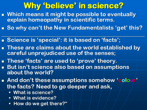 Lionel Milgrom, HOMEOPATHY AND THE NEW FUNDAMENTALISM, Slide 20