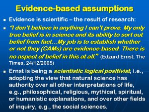 Lionel Milgrom, HOMEOPATHY AND THE NEW FUNDAMENTALISM, Slide 23