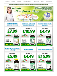 Holland and Barrett 'support' World Menopause Day