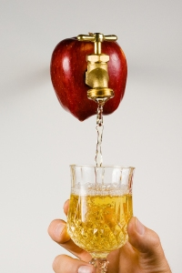 bigstockphoto_apple_with_faucet_pouring_appl_3287143